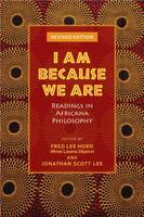 Cover for I Am Because We Are  by Fred Lee Hord