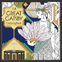Cover for The Great Gatsby Coloring Book by F. Scott Fitzgerald