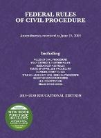 Cover for Federal Rules of Civil Procedure, Educational Edition, 2019-2020 by A. Benjamin Spencer