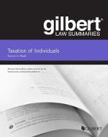 Cover for Gilbert Law Summaries, Taxation of Individuals by Steven A. Bank