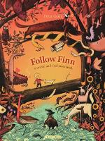 Cover for Follow Finn A search-and-find maze book by Peter Goes