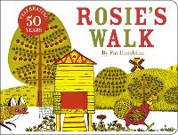 Cover for Rosie's Walk 50th anniversary cased board book edition by Pat Hutchins