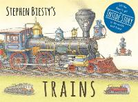 Cover for Stephen Biesty's Trains Cased Board Book with Flaps by Ian (Author) Graham