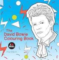 Cover for The David Bowie Colouring Book by Mel Elliott