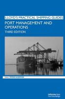 Cover for Port Management and Operations by Giuseppe Saieva