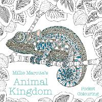 Cover for Millie Marotta's Animal Kingdom Pocket Colouring by Millie Marotta