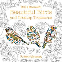 Cover for Millie Marotta's Beautiful Birds and Treetop Treasures Pocket Colouring by Millie Marotta