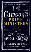 Cover for Gimson's Prime Ministers  by Andrew Gimson