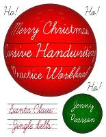 Cover for Merry Christmas Cursive Handwriting Practice Workbook by Jenny Pearson