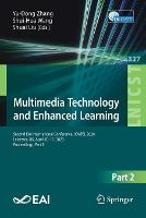 Cover for Multimedia Technology and Enhanced Learning  by Yu-Dong Zhang