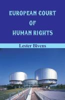 Cover for European Court of Human Rights by Lester Bivens