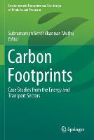 Cover for Carbon Footprints  by Subramanian Senthilkannan Muthu