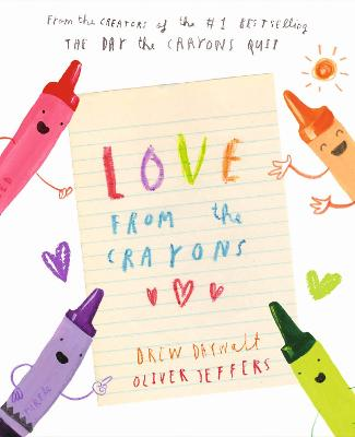 Cover for Love from the Crayons by Drew Daywalt