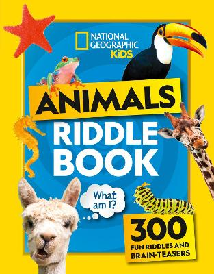 Cover for Animal Riddles Book  by National Geographic Kids