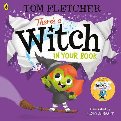 Cover for There's a Witch in Your Book by Tom Fletcher