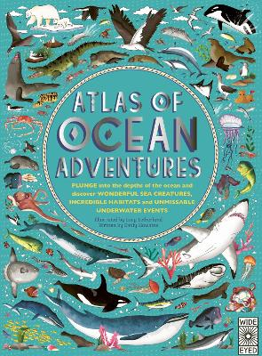 Cover for Atlas of Ocean Adventures by Emily Hawkins