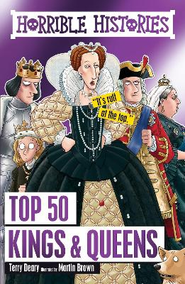 Book Cover for Top 50 Kings and Queens by Terry Deary