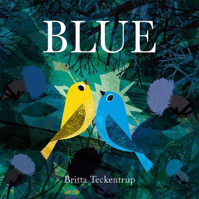 Cover for Blue by Britta Teckentrup