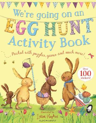 Cover for We're Going on an Egg Hunt Activity Book by Laura Hughes