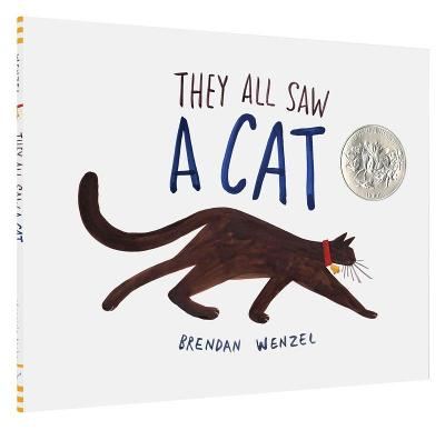 Cover for They All Saw a Cat by Brendan Wenzel