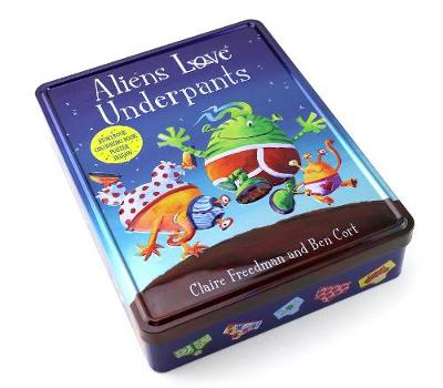Cover for Aliens Love Underpants Anniversary Tin by Claire Freedman