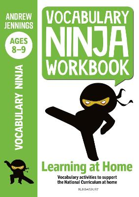 Cover for Vocabulary Ninja Workbook for Ages 8-9 by Andrew Jennings