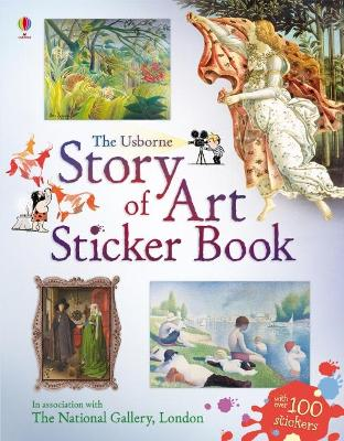 Cover for Story of Art Sticker Book by Sarah Courtauld