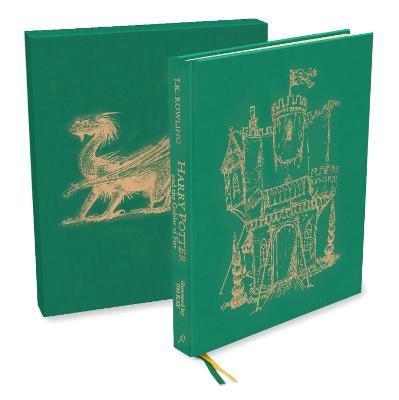 Cover for Harry Potter and the Goblet of Fire Deluxe Illustrated Slipcase Edition by J.K. Rowling