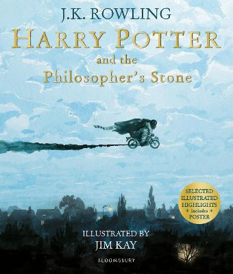 Book Cover for Harry Potter and the Philosopher's Stone Illustrated Edition by J. K. Rowling
