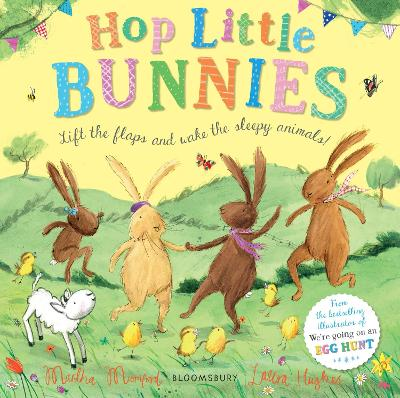 Cover for Hop Little Bunnies Board Book by Martha Mumford