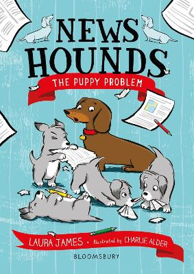 Cover for News Hounds: The Puppy Problem by Laura James