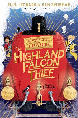Cover for The Highland Falcon Thief by M. G. Leonard, Sam Sedgman