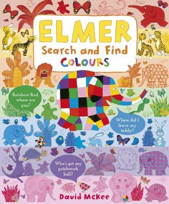 Cover for Elmer Search and Find Colours by David McKee