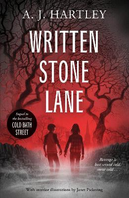 Cover for Written Stone Lane by A. J. Hartley