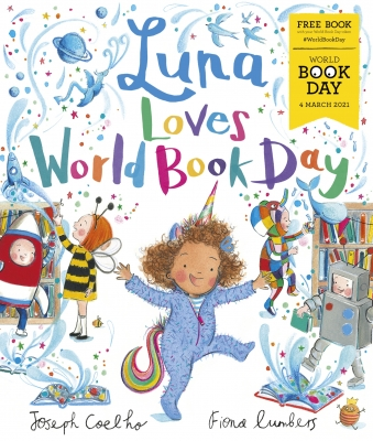 Cover for Luna Loves World Book Day by Joseph Coelho