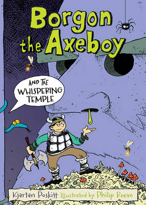 Cover for Borgon the Axeboy and the Whispering Temple by Kjartan Poskitt