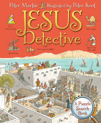 Cover for Jesus Detective A Puzzle Search Book by Peter Martin