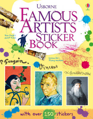 Cover for Famous Artists Sticker Book by Megan Cullis