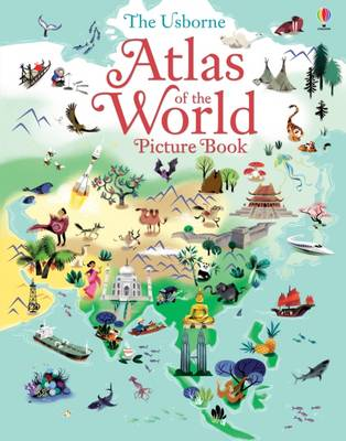 Cover for Atlas of the World Picture Book by Sam Baer