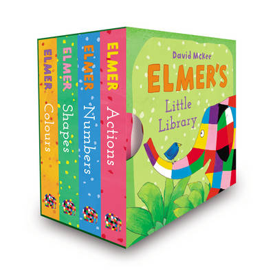 Book Cover for Elmer's Little Library by David McKee