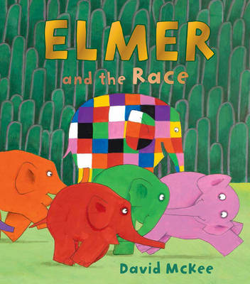 Book Cover for Elmer and the Race by David McKee