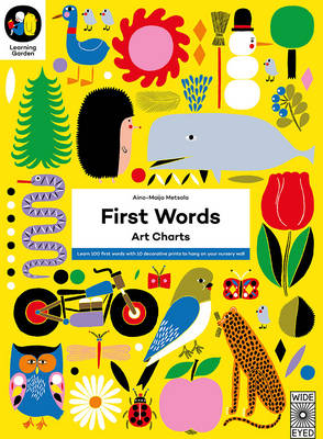 Cover for The Learning Garden: First Words Art Charts by Aino-Maija Metsola