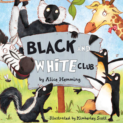 Cover for The Black and White Club by Alice Hemming