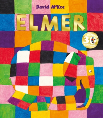 Book Cover for Elmer 30th Anniversary Collector's Edition with Limited Edition Print by David McKee