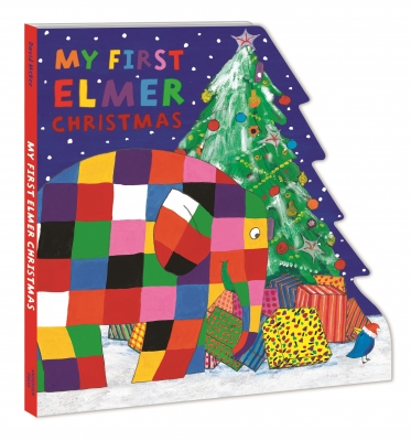 Cover for My First Elmer Christmas Shaped Board Book by David McKee