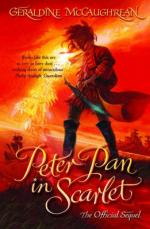 Cover for Peter Pan in Scarlet by Geraldine Mccaughrean