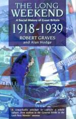 Cover for The Long Weekend: A Social History of Great Britain - 1918-1939 by Robert Graves