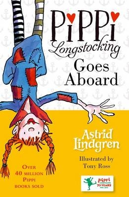 Cover for Pippi Goes Aboard by Astrid Lindgren