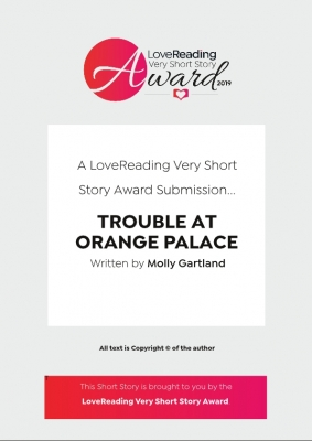 Cover for Trouble At Orange Palace by Molly Gartland
