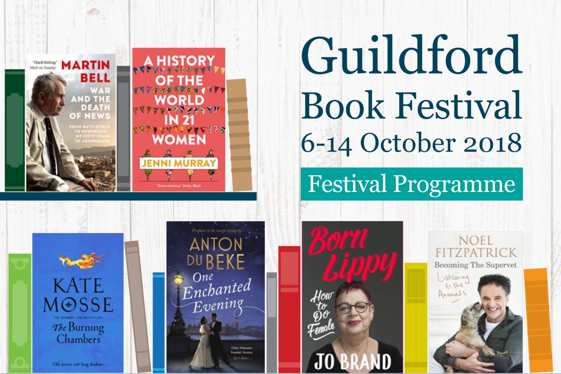 Guildford Book Festival Readers' Day - Saturday 13 October